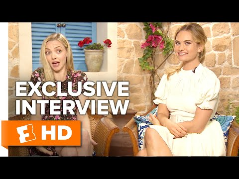 "Amanda Seyfried & Lily James Talk ""Dads In Spandex"" 