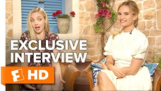 """Amanda Seyfried & Lily James Talk """"Dads in Spandex"""" 