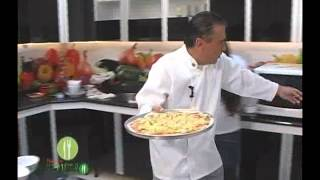 Pizza vegetariana do pitadas - Pitadas do Tempero