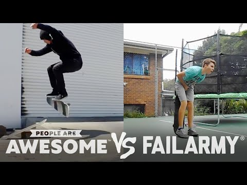 FailArmy Presents: People Are Awesome: Fails VS. Wins #1