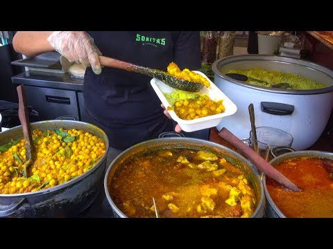 Colourful Indian Food from Punjab Tasted in London. Street Food of Camden Town