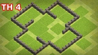 Clash of Clans - Town Hall 4 (COC TH4 ) Best Farming Base, Anti 3 Stars