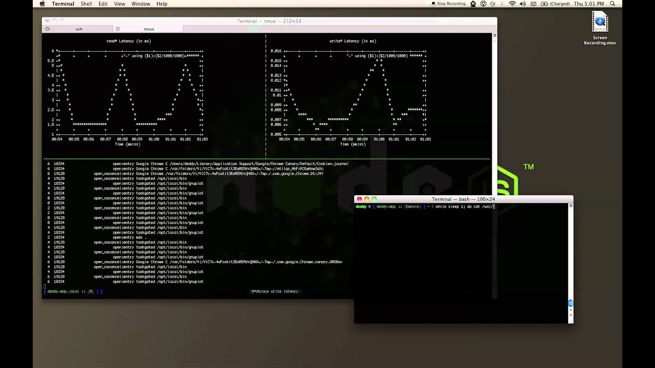 DTrace Latency Visualization in gnuplot