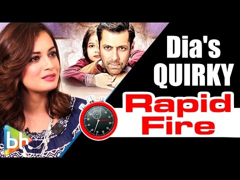Dia Mirza's QUIRKY Rapid Fire On Bajrangi Bhaijaan | Salman Khan | Shah Rukh Khan