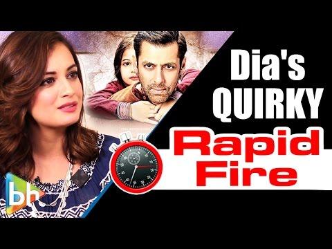 Dia Mirza's QUIRKY Rapid Fire On Bajrangi Bhaijaan   Salman Khan   Shah Rukh Khan