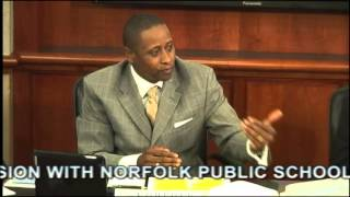 Norfolk City Council and Public Schools Joint Session 10/22/13