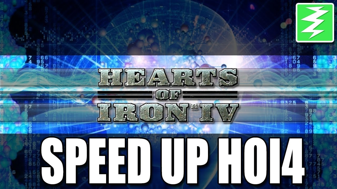 HOW TO SPEED UP HOI4 BY 50% - Hearts of Iron 4