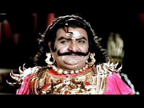 Sampoorna Ramayanam Scenes - Ravana Mono Action Superb Dialogues - SVR