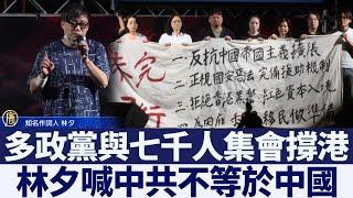 多政黨與七千人集會撐港 林夕喊中共不等於中國 新唐人亞太電視 20200614