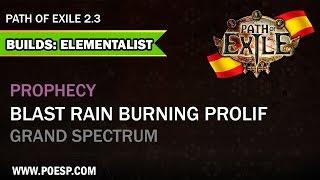 Build Elementalist Blast Rain Grand Spectrum Path of Exile Español 2.3