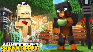 Minecraft SKINNY DIPPING - NUDIE SWIMMING w/BABY LEAH - Little Baby Max roleplay