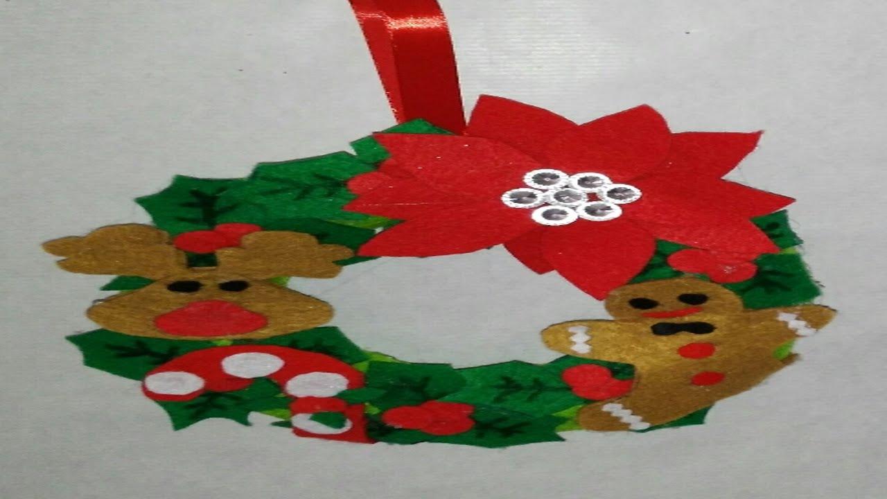 Corona navide a para puerta adornos navide os manolidades - Como hacer decoraciones navidenas ...