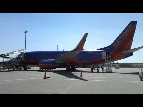 Southwest 737 at the Branson airport