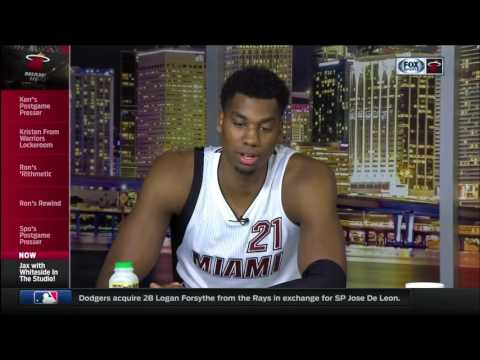 January 23, 2017 - FSS - Miami Heat's Hassan Whiteside Post Game Intv (Vs Warriors)