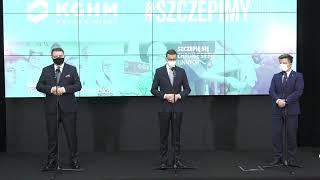 Konferencja prasowa premiera Mateusza Morawieckiego w centrali KGHM Polska Miedź S.A.