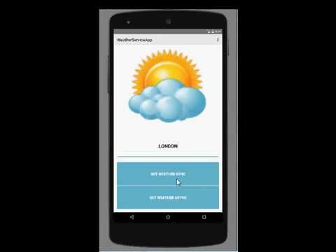 Weather services application