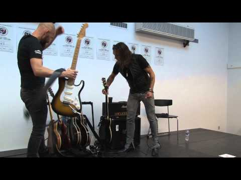Electric Guitars: Mika Vandborg & Søren Andersen clinic at Copenhagen Guitar Show 2013