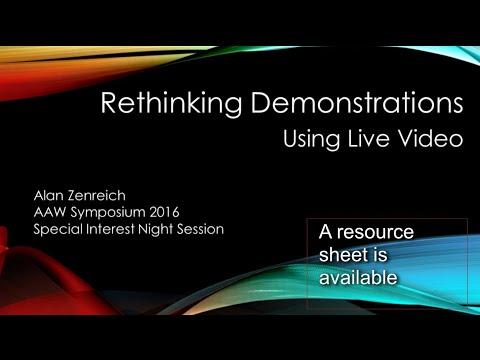 Rethinking Woodturning Demonstrations - Using Live Video
