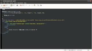 PHP Tutorial: Random Password Generator [part 01]