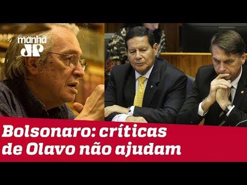 Bolsonaro e Mourão reclamam de críticas feitas por Olavo de Carvalho
