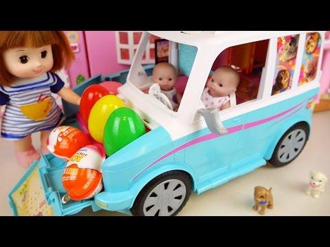 Thumbnail: Baby Doll camping car house toy and Kinder Joy Surprise eggs