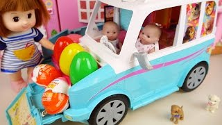 Baby Doll camping car house toy and Kinder Joy Surprise eggs thumbnail
