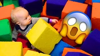 Repeat youtube video BABY TRAPPED IN FOAM PIT!