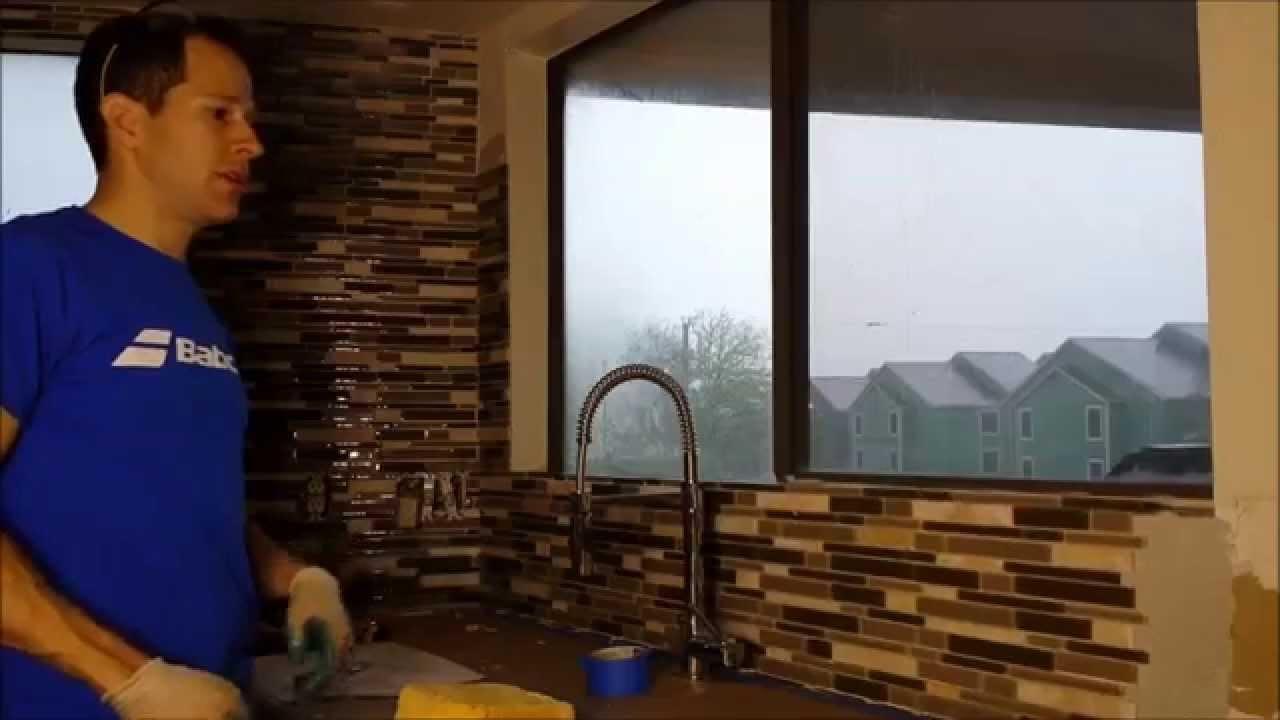 How Tile A Kitchen Backsplash Glass Tile Tons Of Tips Youtube