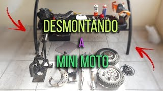DESMONTANDO A MINI MOTO - PROJETO MINI MOTO - BinhoBarcelos