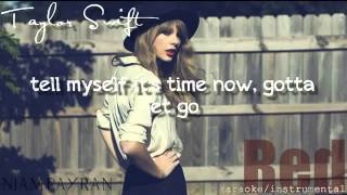 Taylor Swift Red official karaoke instrumental