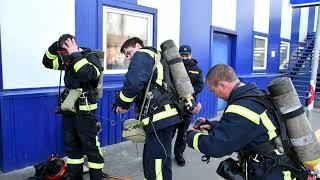 Вогнеборці вдосконалювали навички гасіння пожеж у торгових та складських приміщеннях