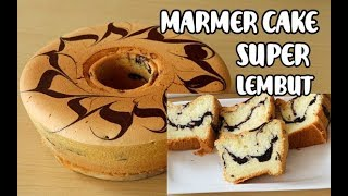 Marmer cake super lembut