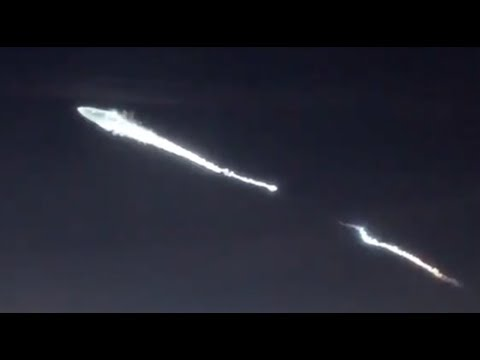 Strange Sightings above L.A. (SpaceX Falcon 9 Launch DEC 22, 2017)