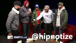 The Game, Mysonne, Swizz Beatz and Saigon FREESTYLE on MTV RapFix (OFF THE TOP!!)