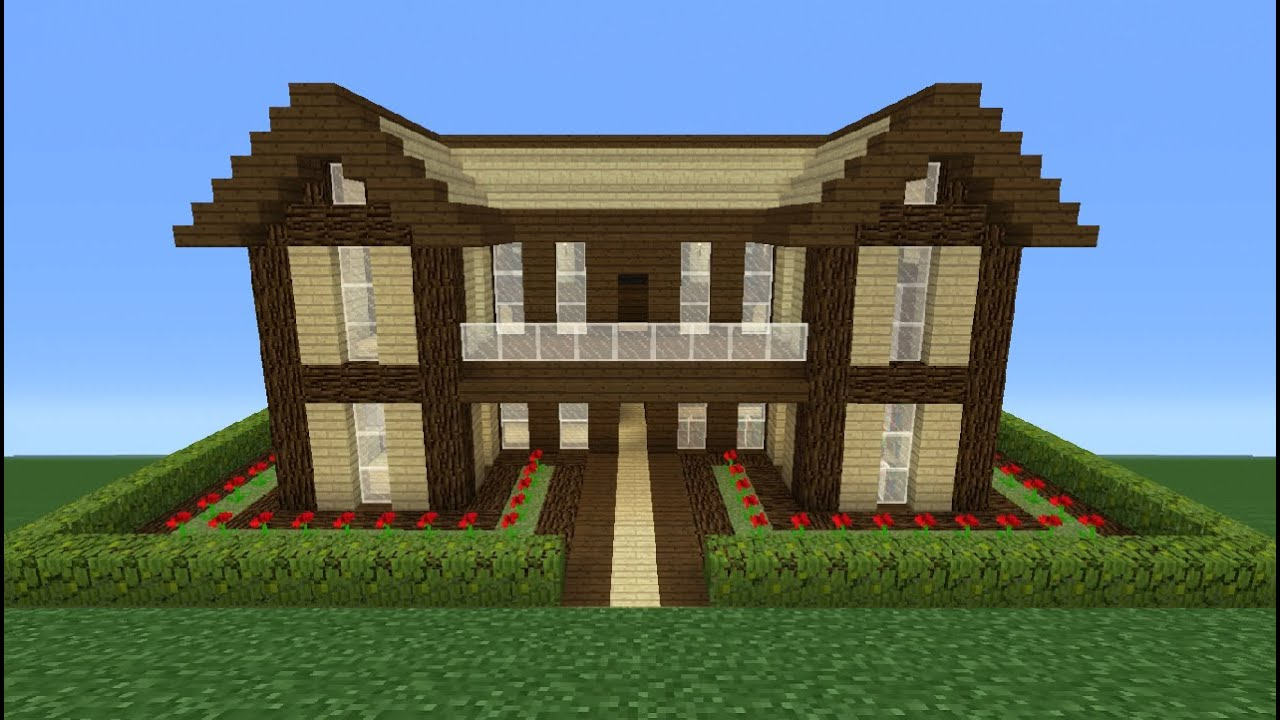 Minecraft Tutorial How To Make A Wooden House 16 Youtube