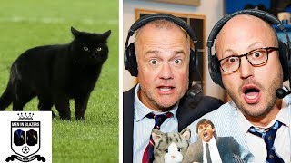 Men in Blazers break down cat pitch invasion during Everton v. Wolves | Premier League | NBC Sports