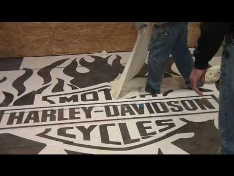 Deco crete supply harley davidson logo youtube for Decoration maison harley davidson