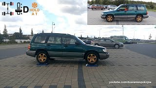 Subaru Forester S Turbo 2.0 AT S-AWD 1st generation - 4x4 test on rollers