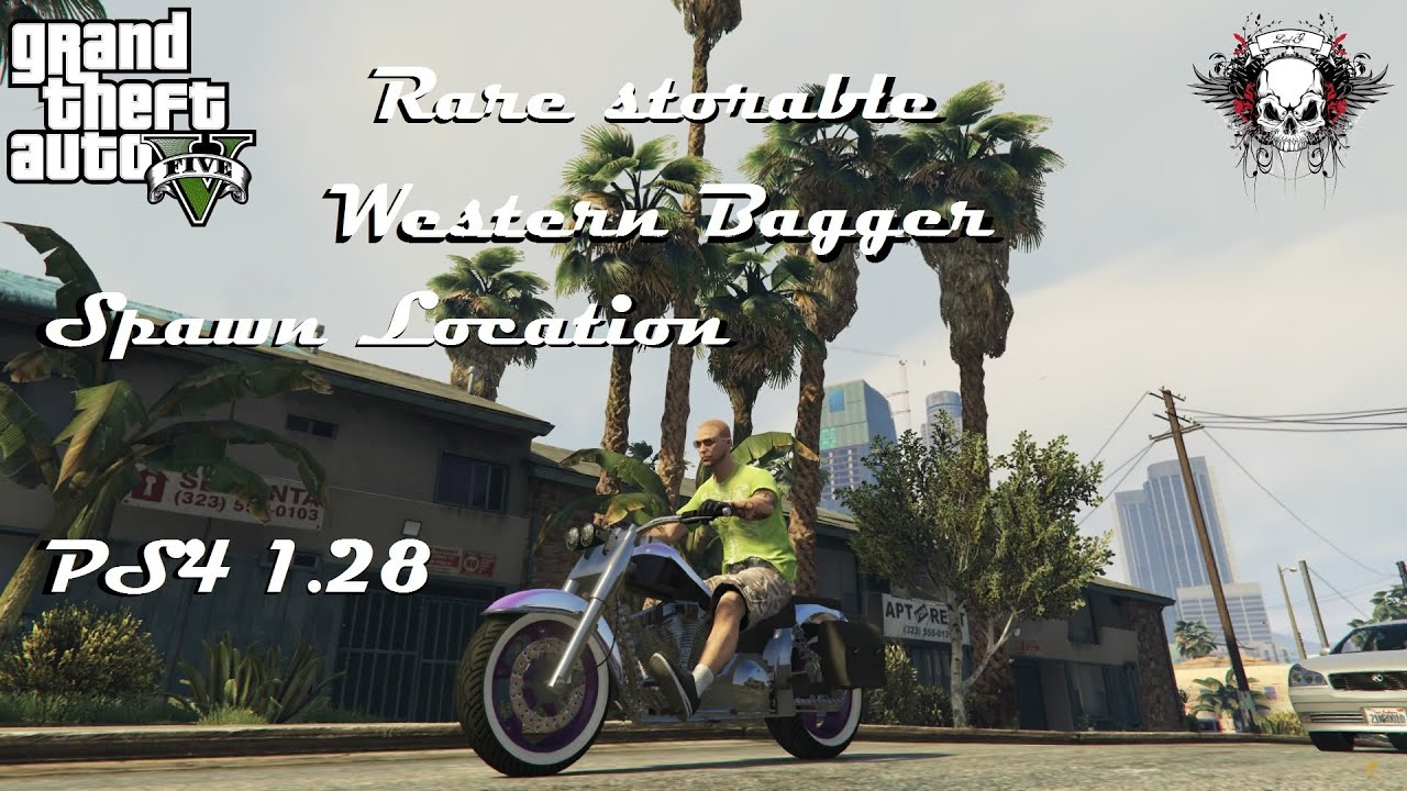 Grand Theft Auto V_Online Rare storable Western bagger ...