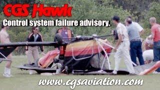 CGS Hawk elevator control system failure advisory.