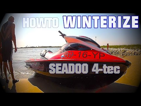 How To WINTERIZE Your SEADOO Jetski PWC 4TEC DIY YouTube