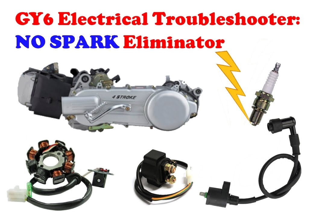 "gy6 electrical troubleshooting tutorial - ""no spark"" eliminator"