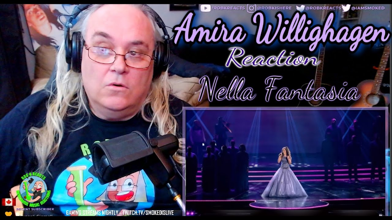 Amira Willighagen Reaction - Live in Concert - Nella Fantasia - First Time Hearing - Requested