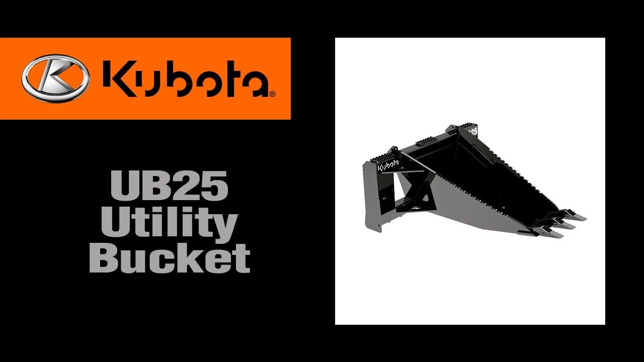 Kubota UB25 Utility Bucket