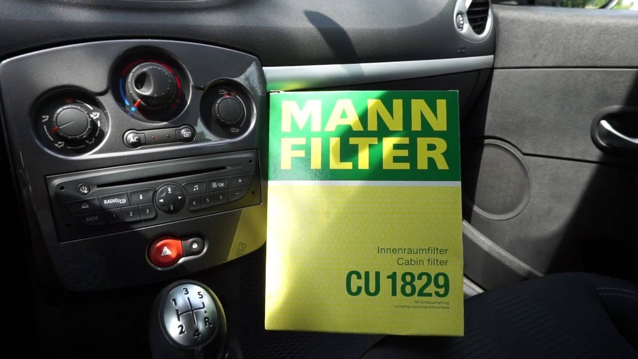 Cabin Air Filter Replacement Renault Clio 3 Youtube
