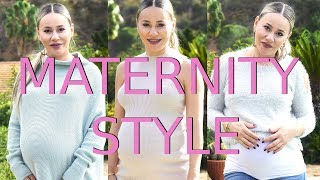 Maternity Style Lookbook - Pregnant in Winter Time