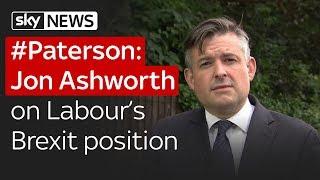 Paterson: Jon Ashworth pressed on Labour
