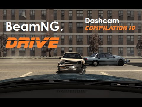 BeamNG. Drive - Dashcam Crashes Compilation 10 [Real Voices]