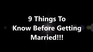 Before Getting Married...Know This