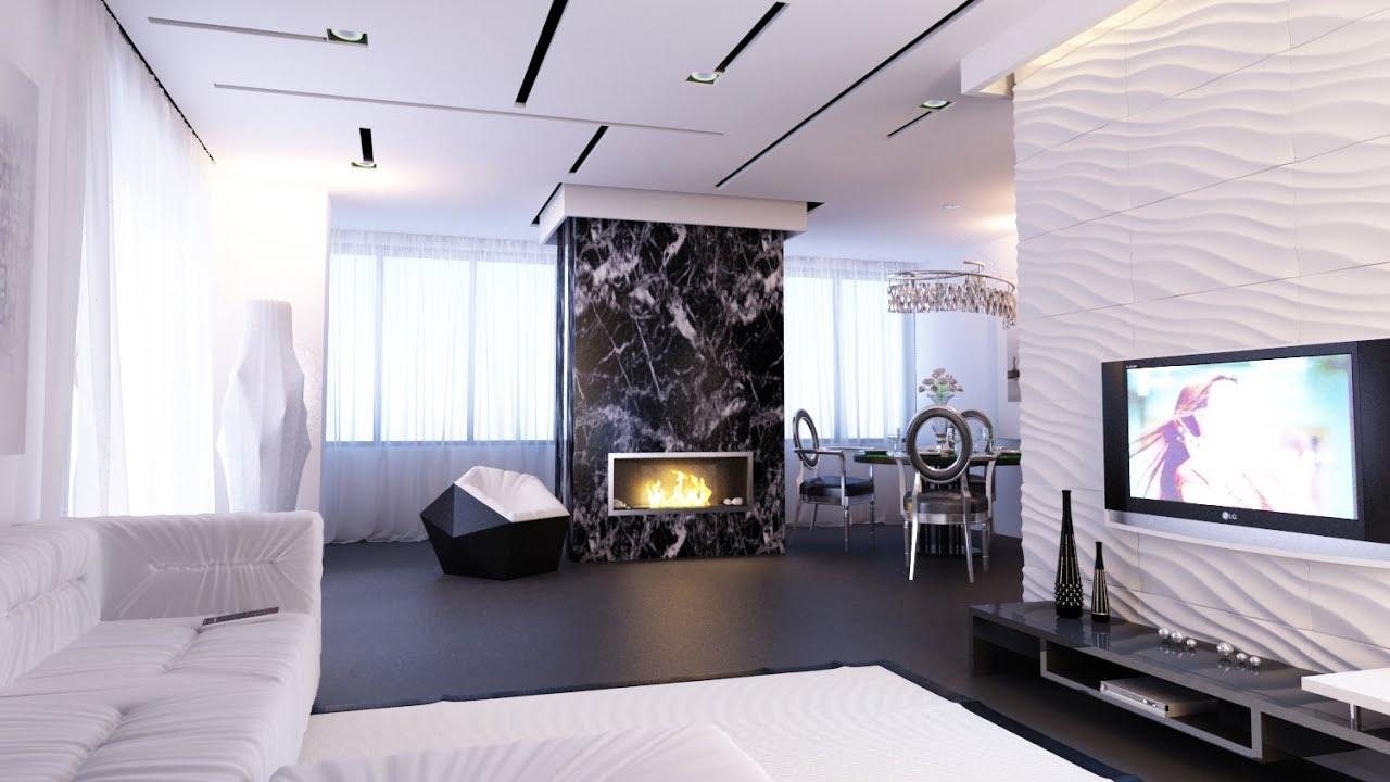 Дизайн двухкомнатной квартиры (г.Киев) - YouTube